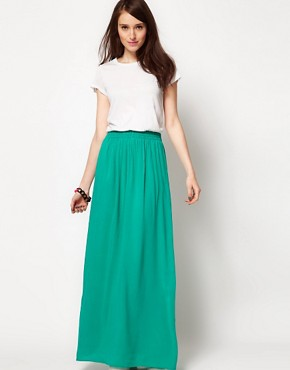 Image 1 ofSplendid Maxi Dress with Woven Full Skirt