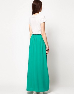 Image 2 ofSplendid Maxi Dress with Woven Full Skirt