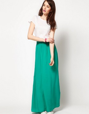 Image 4 ofSplendid Maxi Dress with Woven Full Skirt