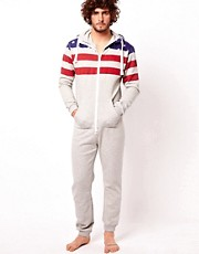 Dirty Roller Flag Onesie