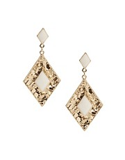 Oasis Textured Diamond Shaped Earrings