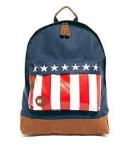 Mi Pac US Flag Pocket Backpack