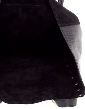 Image 2 ofASOS Suede Studded Shopper