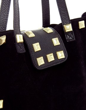 Image 4 ofASOS Suede Studded Shopper