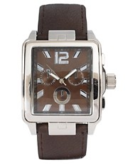 River Island Square Face Chocolate Watch
