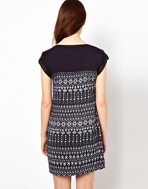 Image 2 ofWarehouse Tribal Zip Pocket Dress