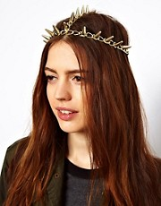ASOS  Gold Spike Hair Crown