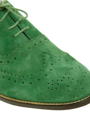 Image 2 ofASOS MARKY Suede Traditional Brogues