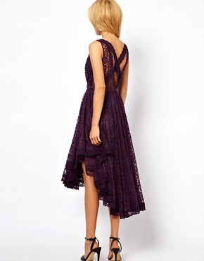Image 2 ofASOS Lace Dress With Gathered Waist