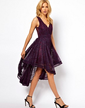 Image 4 ofASOS Lace Dress With Gathered Waist
