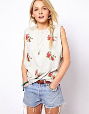 ASOS Vest with Embroidered Flowers