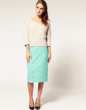 Image 1 ofASOS Pencil Skirt In Lace