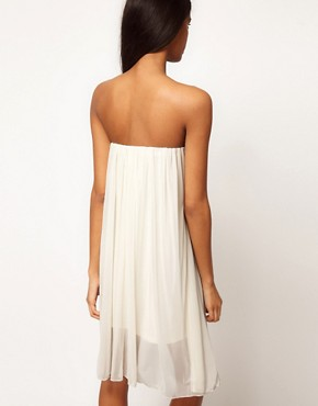 Image 2 ofASOS Strapless Dress In Mesh With Embellished Bust