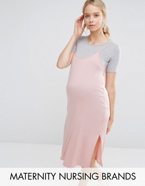 Bluebelle Maternity Nursing 2 In 1 T-Shirt Dress