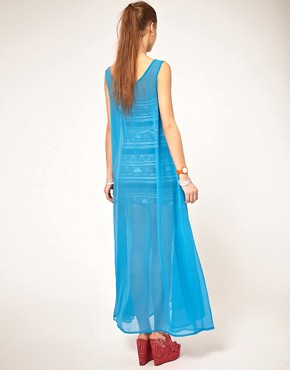 Image 2 ofAmerican Apparel Sheer Maxi Dress