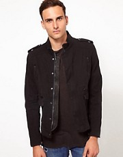 Iro Zip Jacket with Leather Detailing