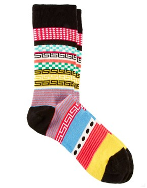 Image 1 ofASOS House Party Pattern Socks