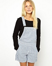 ASOS Stripe Short Dungarees