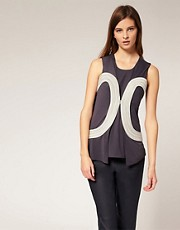 LiLee For ASOS Cord Trim Top