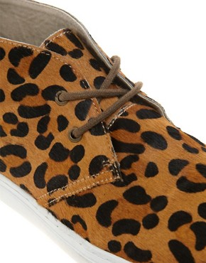 Image 2 ofASOS Chukka Boots with Leopard Print