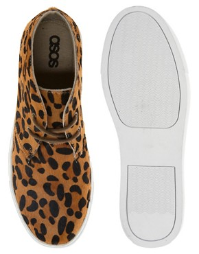 Image 3 ofASOS Chukka Boots with Leopard Print
