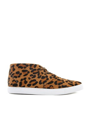 Image 4 ofASOS Chukka Boots with Leopard Print