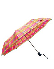 Fulton Open &amp; Close-4 Madras Check Umbrella
