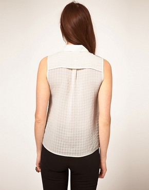 Image 2 ofASOS Textured Sleeveless Blouse