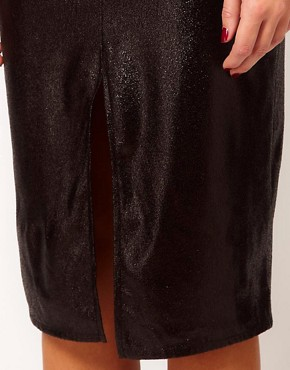 Image 3 ofRiver Island Patent Pencil Skirt With Split