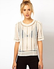 ASOS Top With Cutwork Panel Detail