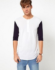 American Apparel Baseball Henley Top