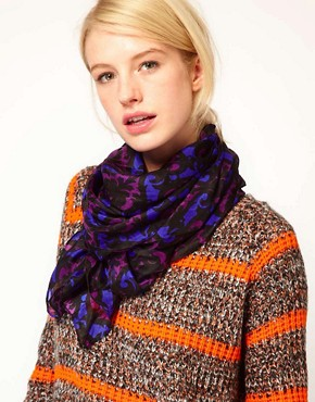 Image 1 ofASOS Dandizette Print Silk Scarf