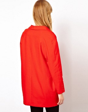 Image 2 ofSessun Car Coat in Bright Red