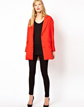 Image 4 ofSessun Car Coat in Bright Red