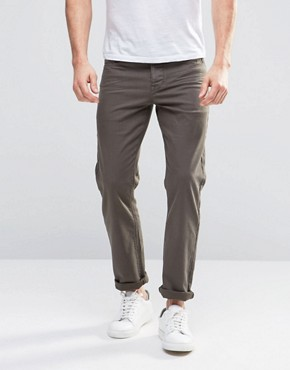 ASOS Stretch Slim Jeans In Khaki