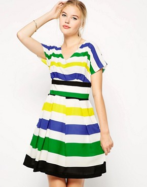 Closet Stripe Skater Dress