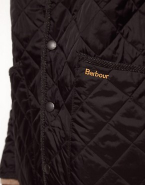 Image 3 ofBarbour Batesman Quilted Jacket with Tweed Collar