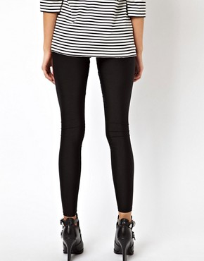 Image 2 ofASOS Disco Leggings in Shimmer Effect