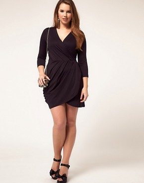 Image 4 ofASOS CURVE Exclusive Wrap Dress