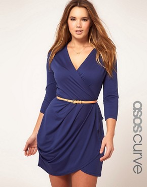 Image 1 ofASOS CURVE Exclusive Wrap Dress