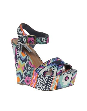 Image 1 ofSteve Madden Winonna Multi print Wedges