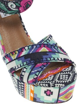 Image 3 ofSteve Madden Winonna Multi print Wedges