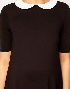 Image 3 ofASOS Maternity Swing Dress With Peter Pan Collar