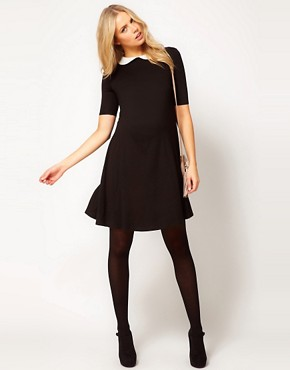 Image 4 ofASOS Maternity Swing Dress With Peter Pan Collar