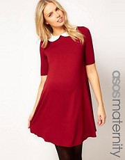 ASOS Maternity  Swing-Kleid mit Bubikragen