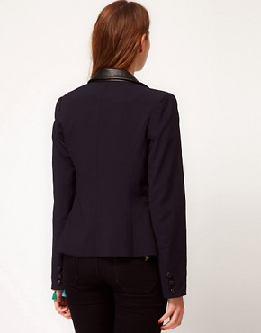 Image 2 ofGlamorous Blazer With PU Collar