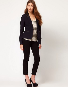 Image 4 ofGlamorous Blazer With PU Collar