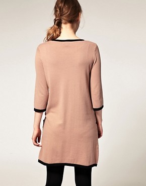 Image 2 ofASOS Contrast Knitted Shift Dress