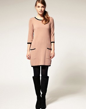 Image 4 ofASOS Contrast Knitted Shift Dress