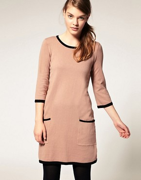 Image 1 ofASOS Contrast Knitted Shift Dress